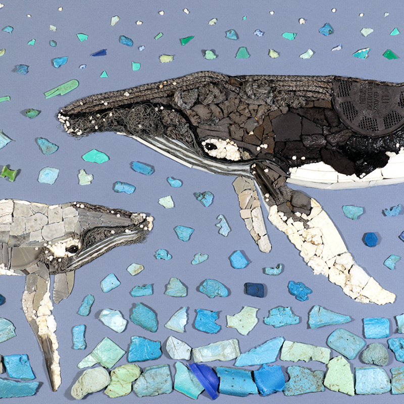 Plastic humpback whales